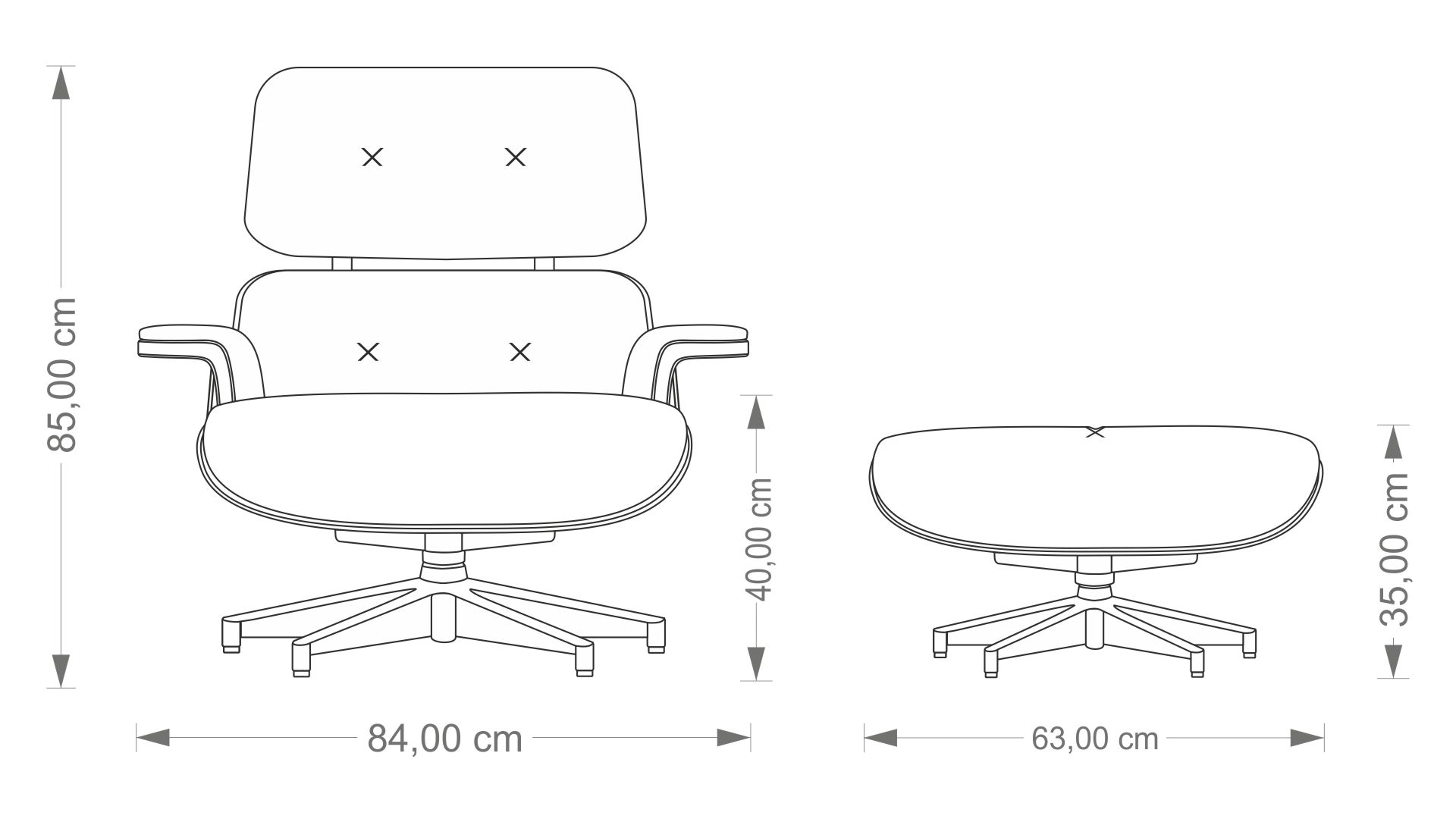 Eames Lounge Chair & Ottoman Front