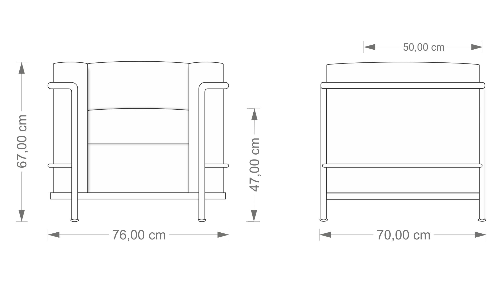 Le Corbusier LC 1 Armchair
