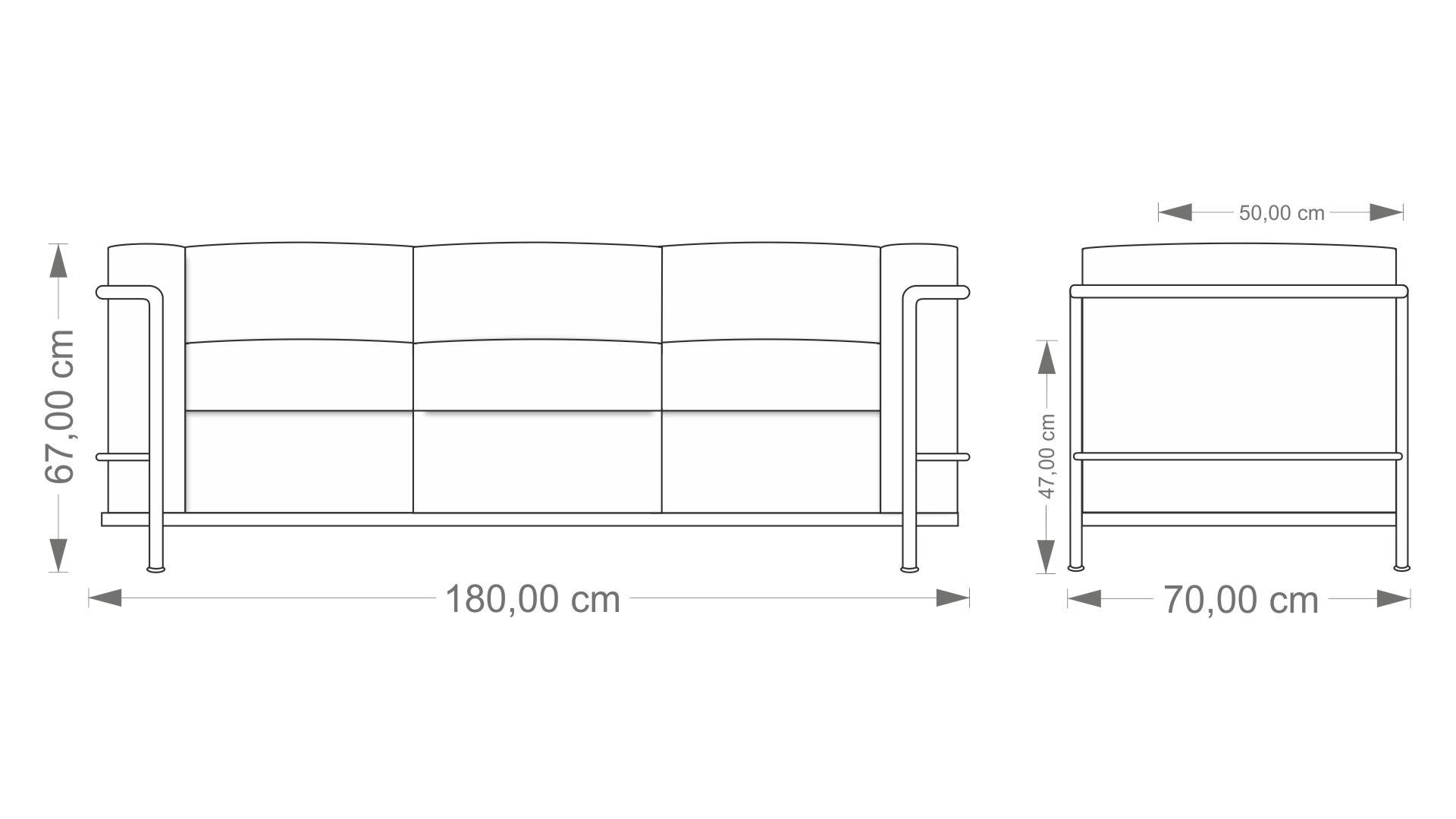 Le Corbusier LC2 Three Seater